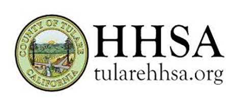 Tulare County Health and Human Services logo stock image.